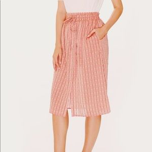NWT Pepaloves ModCloth Pink Graciela Button Skirt